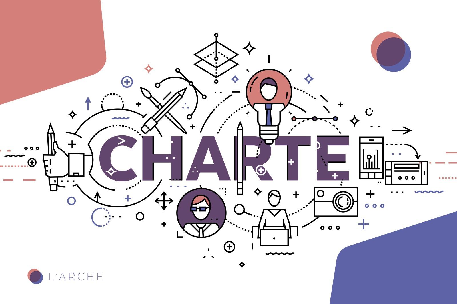 Charte graphique de l'Arche, la communauté des freelances auto-entrepreneurs.