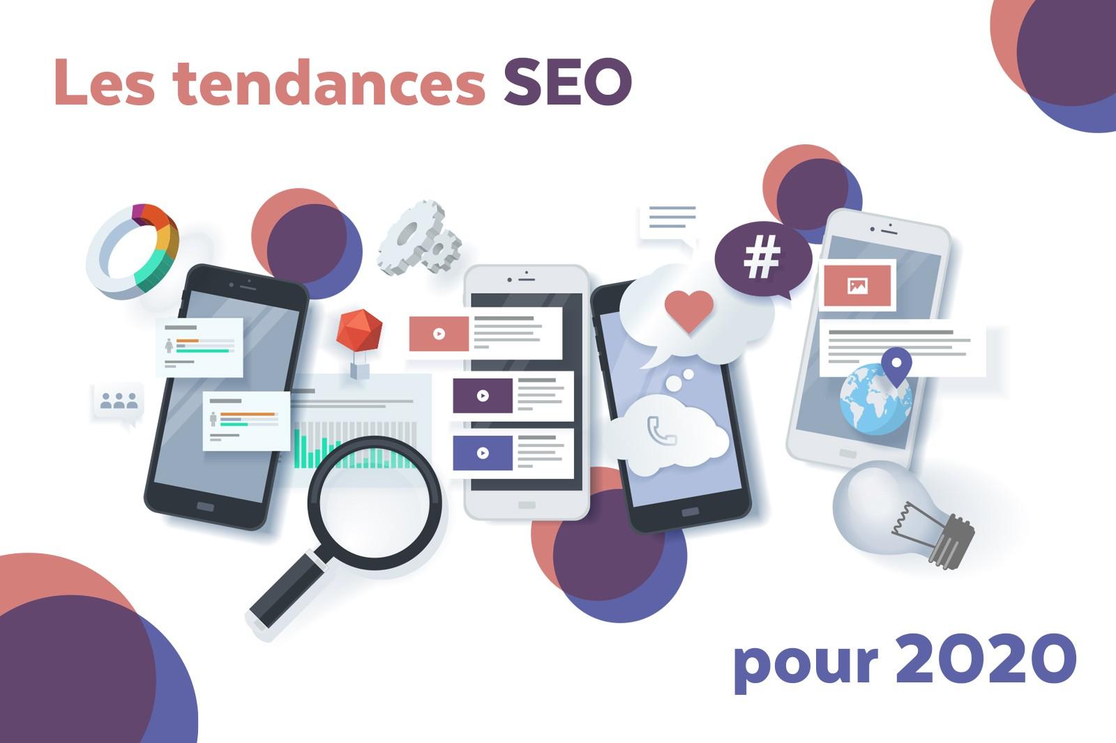 Représentation des tendances SEO pour 2020 pour devenir freelance web.