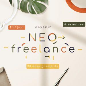 Neo-freelance de l'Arche c'est quoi? Nous aidons ceux qui veulent se lancer en freelances une heure par jour pendant six semaines avec trente enseignements.